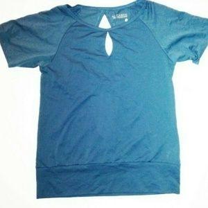 CARVE Designs Blue Breathable Lianna Teal Shirt M